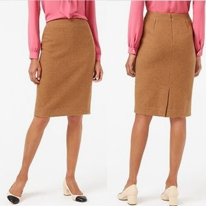 J. Crew The Pencil Skirt in Camel